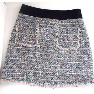 J. Crew Skirts - J.Crew Multicolored Tweed Mini Skirt With Pockets